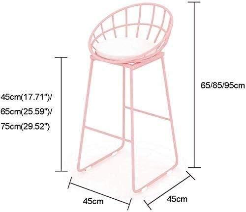 "Barhocker Stool Bar, Cafe, Restaurant Stuhl, Iron Art Moderne Rezeption Stuhl for Büro Gastronomie Frühstück Küche Barhocker 45 cm (17,71"") / 65 cm (25,59"") / 75cm (29.52"")"