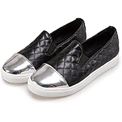 Student Slip On Shoes Women Oxfords Shoes Loafers Flats Woman Casual Flat Shoes Plus Size Black 7