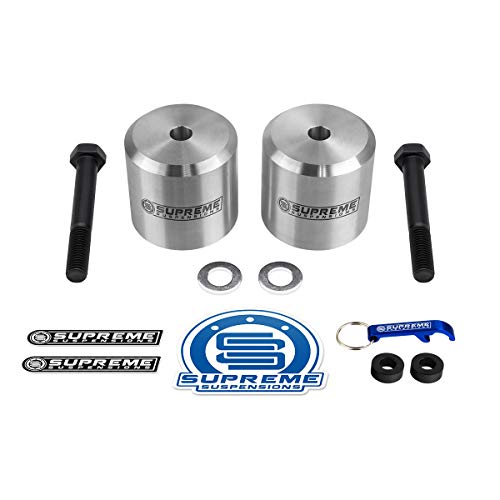 Supreme Suspensions - Front Leveling Kit for Ford F250 F350 3 Inch Front Lift Coil Spring Spacers 4WD (Silver)