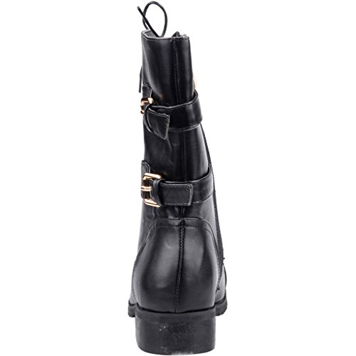 Dressing Calaier Toe Zipper 2016 Block Boots Sweet Women Designer Heel Black Round Cahomework Shoes Bridal 3CM nXq8xrX4