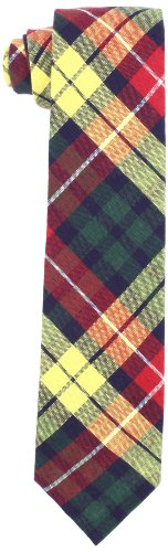 Jack Spade Men's Abner Tie, Red Plaid, One Size