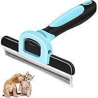 Cepillo para perros, cepillo para la piel, peine para depilación, cepillo para mascotas, cepillo de aseo, reduce el…