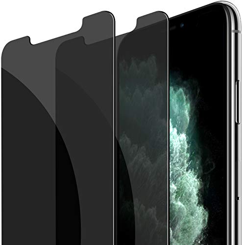 Fotbor Compatible with iPhone Xs/iPhone X/iPhone 11 Pro Screen Protector Privacy Tempered Glass, Anti Spy/Scratch Case Friendly 5.8 Inch 2 Pack