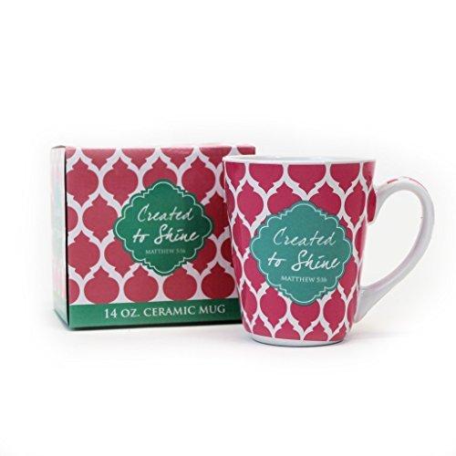Created to Shine Matthew 5:16 Ceramic 14 ounce Decorative Box and Mug Set