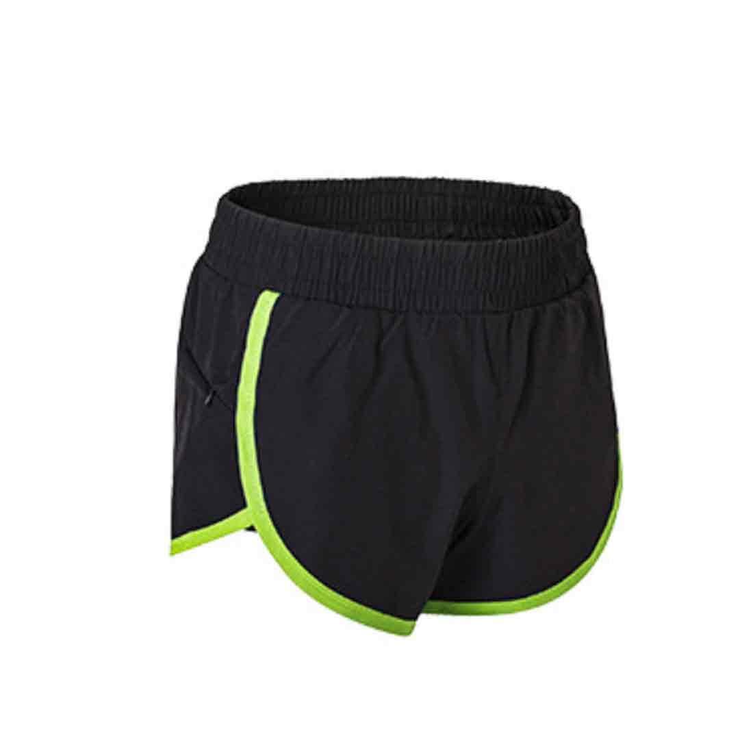 IOSHAPO Damen Fitness und Trainieren Mini Shorts Yoga Kurze Sporthose Mit Rei/ßverschluss Taschen