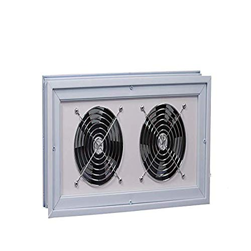 Basement or Crawl Space Window with Fans - 16