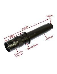 "aihome 14 MP HDMI HD USB microscopio cámara de vídeo digital Industria Set + Big Boom Soporte Soporte universal + 180 x C Mount lente + 144 LED Light + 8"" Inch HDMI LCD Monitor"