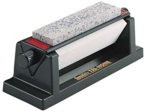 Hone Sharpening Tri System (NEW SMITH'S ABRASIVES TRI 6 THREE STONE SIDED TRI HONE DELUXE KNIFE SHARPENER)