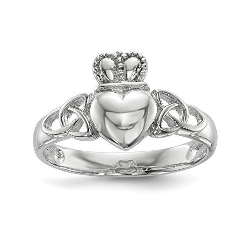 ICE CARATS 925 Sterling Silver Irish Claddagh Celtic Knot Band Ring Size 7.00 Fine Jewelry Gift Set For Women Heart