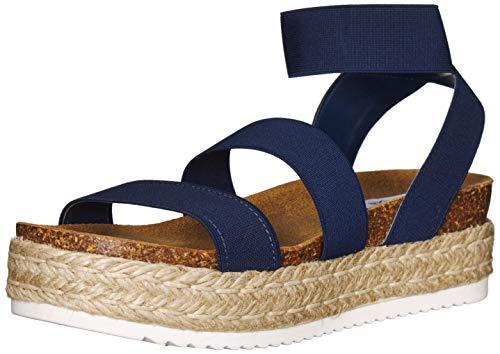 Steve Madden Women's Kimmie Wedge Sandal Navy 6 M US