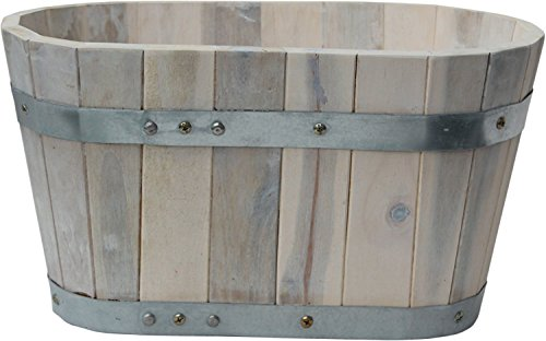 Happy Planter HP301 Small Wood Barrel Outdoor Planter, for sale  Delivered anywhere in Canada