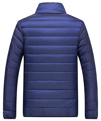 Solid Color Outdoor Comfortable Sizes Ultralight HX Winter Jacket Men Down Long Clothing Coat Coat Warm Down Down Dunkelblau fashion Owqa8BOZ