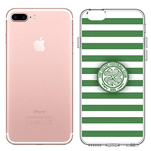 Celtic Style Stripes Celtic Football Soccer Club Phone Case for iPhone 6 7 5S 6plus Soft Silicone Clear TPU Back Cover Case (iPhone 7 8)