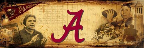 Alabama Crimson Tide Bama Wall Mural Kids Wall Graphics 4' x 12' by Sport Walls