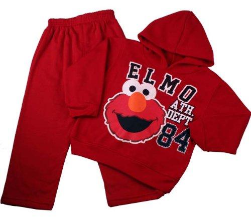 2 Piece Elmo Baby Boys Red Jersey Hoodie Set