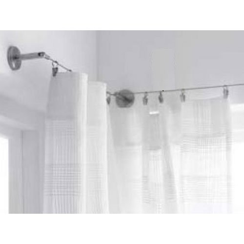 Wallniture Stainless Steel Curtain Drape Wire Rod