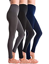 3-Pack Brushed Fleece Lined Thick Leggings