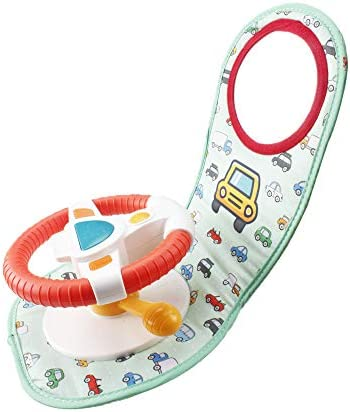 WISHTIME CAR SEAT PLAY CENTER TOY - IN-CAR WHEEL MUSICAL ACTIVITY CENTER TOY BABY¡¯S TRAVEL COMPANION ENTERTAIN AND RELAX EASIER DRIVE WITH SOUNDS AND LIGHTS FOR BABY