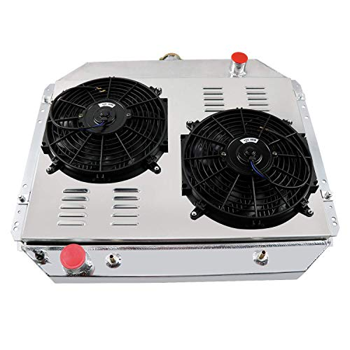 - CoolingCare 4 Row Core Aluminum Radiator+ Shroud Fans+ Relay Suit for 1966-79 Ford F150 F250 F350/ 1978-79 Bronco V8 Pickup Truck