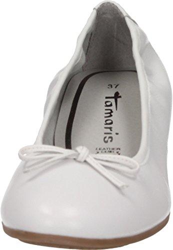 Tamaris Damer Ballerina Hvid AxlLYv87