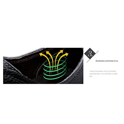 Autunno Primavera YXLONG Singole In Moda Uomo Nuove E Fondo Morbido Casual Scarpe Pizzo Scarpe Business Scarpe Da Pelle 6015darkbrown Britannico Rotondo Marea In qdErEF