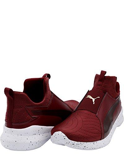 Puma Dames Rebel Midzwaan Sneaker Cordovan / Puma Team Goud