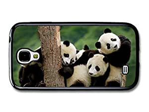 AMAF ? Accessories Adorable Cute Panda Bears Hugging On A Tree case for Samsung Galaxy S4