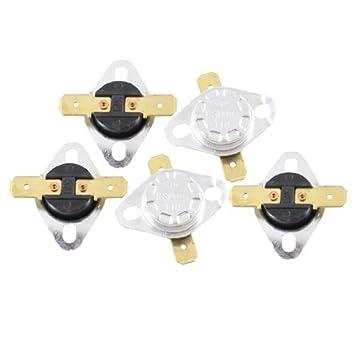 eDealMax 5 piezas 110 centígrados 230F normalmente cerrado del interruptor de temperatura controlada KSD301 - - Amazon.com