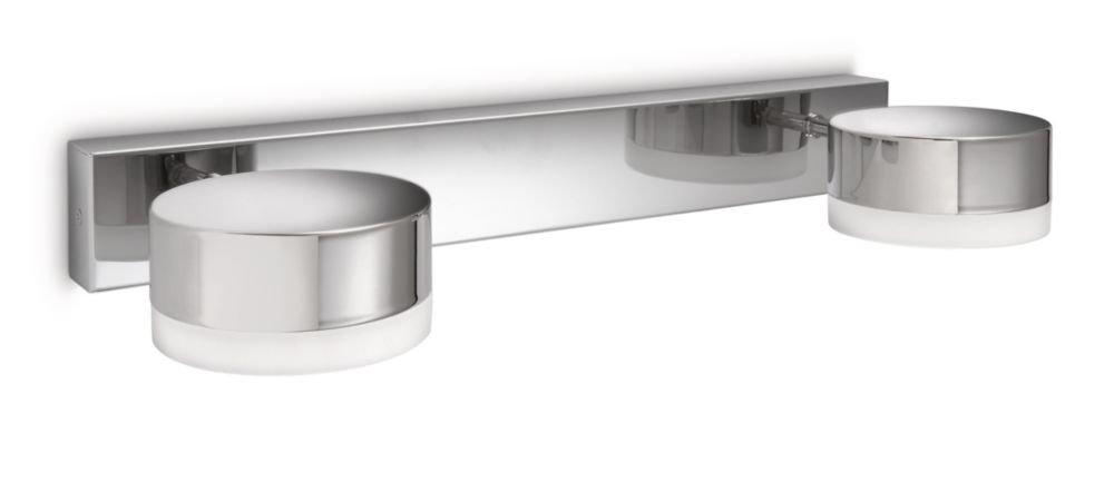 Philips Trickle Lampada Bagno Parete, 2 Luci tonde, Lampadina Inclusa [Classe di efficienza energetica A] 915002292803