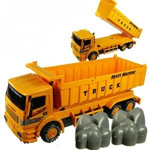 Friction Powered Super Heavy Machine Construction Dump Truck Toy For Kids By Mk Trading