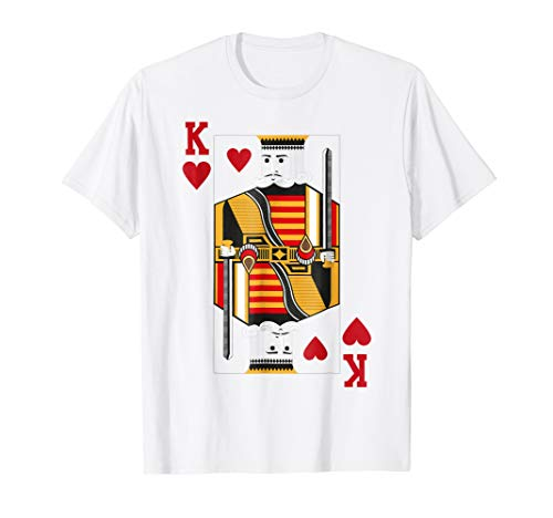 Halloween King of Hearts Costume Shirt Men -