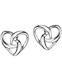 Mint Sterling Sliver Heart Earrings Stud Twisted Knot Jewelry for Women