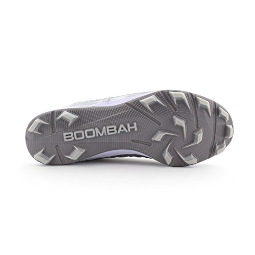 Boombah Mens Squadron Molded Mid Cleats - 15 Color Options - Multiple Sizes Gray/Silver MuyjrPAsdZ