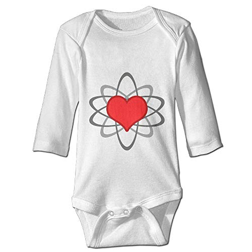 Printed Heart with Atomic Field Kawaii Baby Boys Long Sleeves Bodysuit Jumpsuit Outfits
