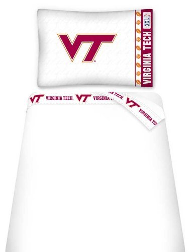 NCAA Virginia Tech Hokies Micro Fiber Sheet Set (Queen)