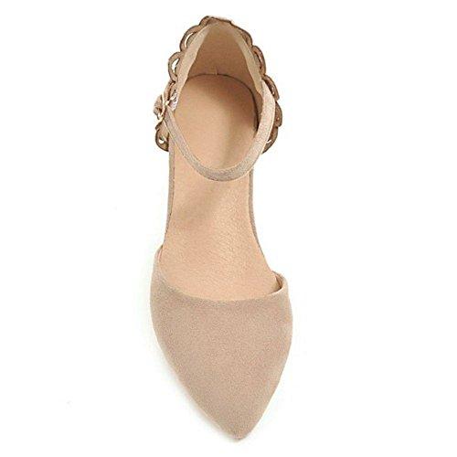 Cinturino Sandali Apricot Scarpe Donna Moda Caviglia alla RAZAMAZA qwaEX1n