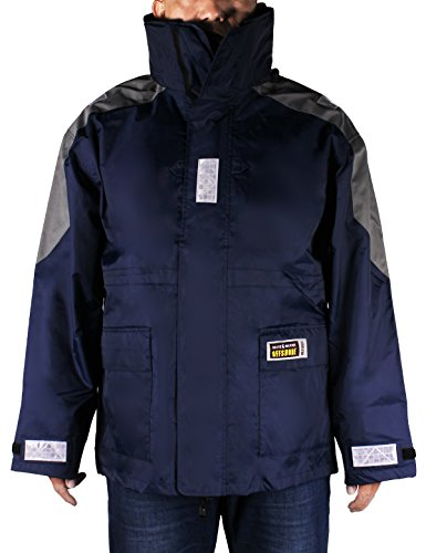 Foul Weather Raincoat (Navis Marine Men's Sailing Inshore Jacket ,Fishing/Surfing/Boating/Yachting Gage Weather Raincoat Blue(M))