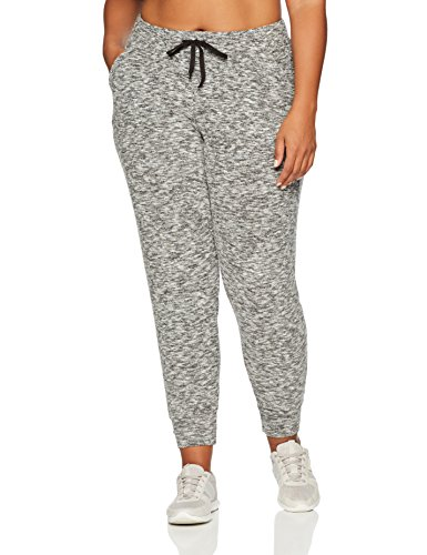Luna Marble (Kailee Athletics Women's Plus-Size Active Lounge Jogger 1X Grey Marble)