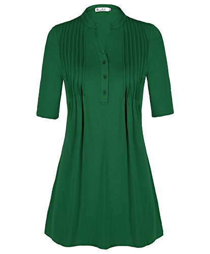 DRESSOLE Vintage Button Sleeve Pleated product image