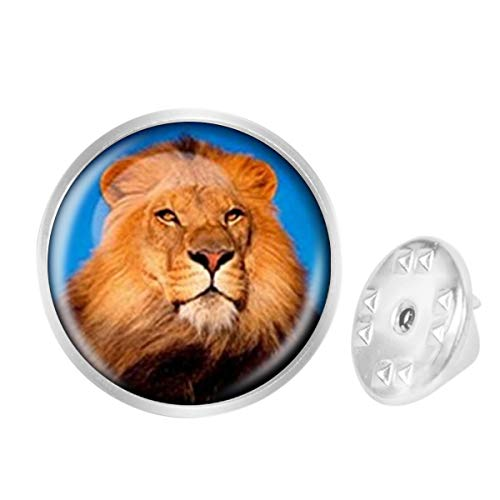 Custom Lapel Pin Brooches Lion Animal Banquet Badge Pins Trendy Accessory Jacket T-Shirt Bag Hat - Lion Silver Sterling Pins Lapel