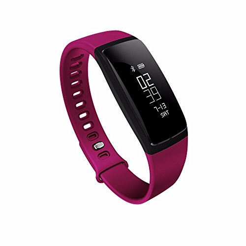 Istyle reg:V07 Smartband Blood Pressure Tracker Heart Rate Monitor Pedometer Bluetooth 4.0 Wristband Fitness Tracker Raise to Wake Bracelet Watch For IOS Android (Purple)