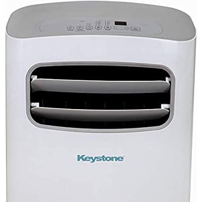 """Keystone KSTAP12QD Extra-Quiet Portable Air Conditioner with """"Follow Me"""" LCD Remote Control for Rooms up to 300-Sq. Ft. (Renewed)"""
