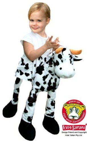 Safari Plush Costume Cow- One Size (Cow Costumes)