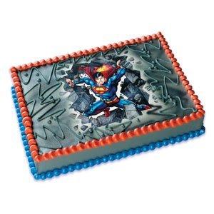 DC Comics Superman Bustin ~ Edible Cake Image Topper
