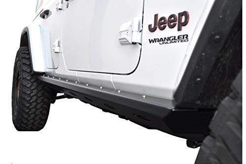 EVO MFG Jeep Wrangler 2018+ JLU Bomber Rockers, 4 Door Bare Steel/UNPAINTED