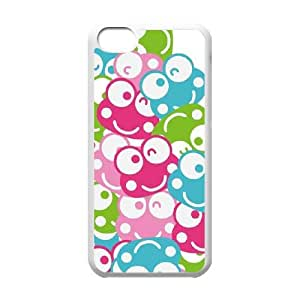 iPhone 5c Cell Phone Case White Keroppi Winking Faces BNY_6801990