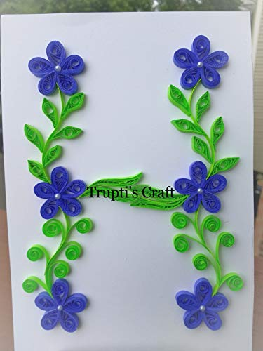 Paper Quilling Monogram 'H' Wall Frame/Wall Hanging/Home Decor/Gift / Children Room Decor/Monogram / Paper Quilling Gift by Trupti's Craft (Image #1)