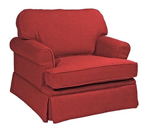 AC Furniture 96101 Lounge Chair, Attached Pillow Back, 37'' Width x 36'' Diameter x 35'' Height x 18.5'' Seat Height x 26'' Arm Height by AC Furniture
