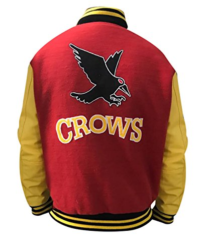 LP-Facon Crows Tom welling Smallville Clark Kent Varsity Letterman Bomber Jacket (X-Large, Red & (Varsity Bomber)