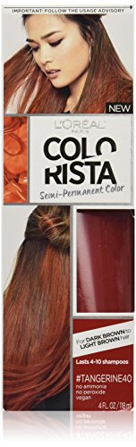 L'Oréal Paris Colorista Semi-Permanent Hair Color For Brunettes, Tangerine